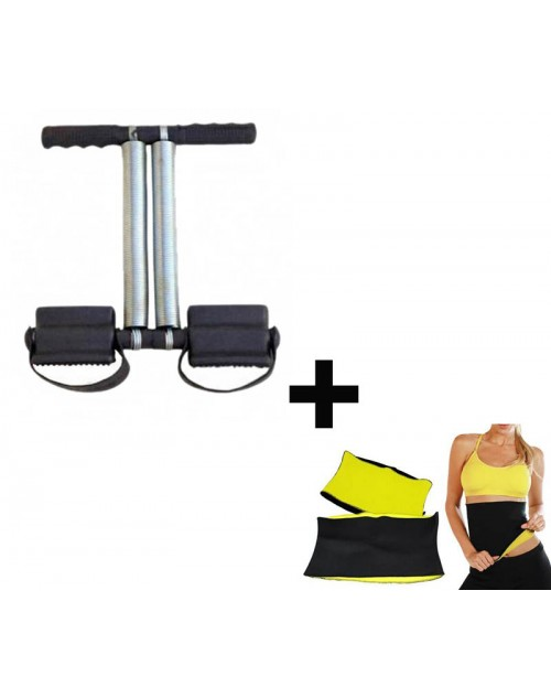 Buy  Double Spring Tummy Trimmer - Get Hot Shapper Belt Free