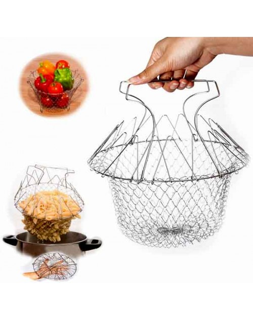 Folding Chef Basket Kitchen Tool