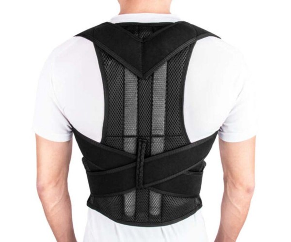 POSTURE CORRECTOR BACK BRACE ADJUSTABLE STRAIGHTENER FOR CLAVICLE SUPPORT, PAIN RELIEF FROM NECK, BACK & SHOULDER