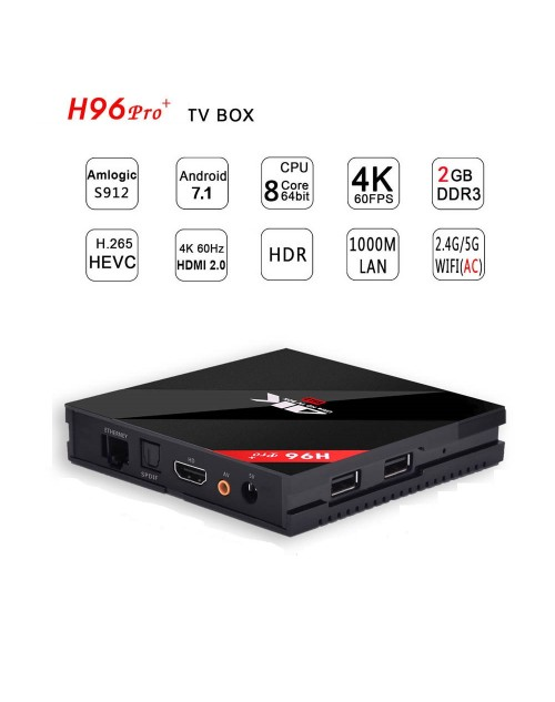 ANDRIOD TV BOX H96 PRO PLUS 3GB+32GB OCTA CORE 4K ULTA HD TV 7.1v