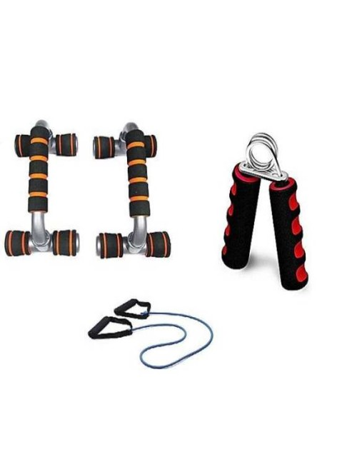 Original Push Up Pro, Hand Gripper & Resistance Band Pack Of 3