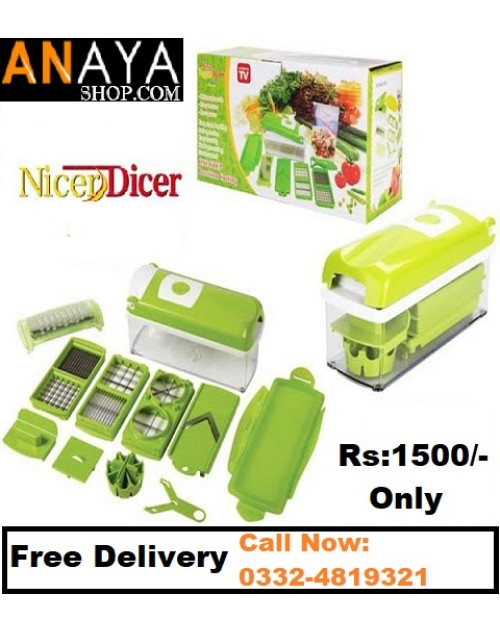 Original Nicer Dicer Vegetable & Fruit Cutter - Set Of 12 Pieces
