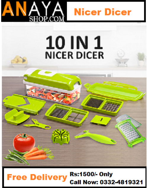Nicer Dicer Super Slicer Cutter Chopper Plus Vegetable Fruit Peeler