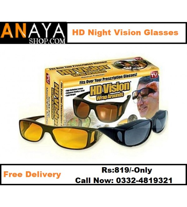 Pack of 2 HD Night Vision Glasses Wrap Arounds