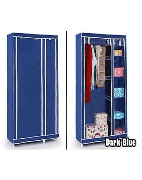 Wardrobe Folding Canvas With Wheels -120 X 50 X 175Cm